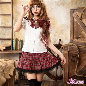 コスプレ 女子高制服 z683 赤チェック制服